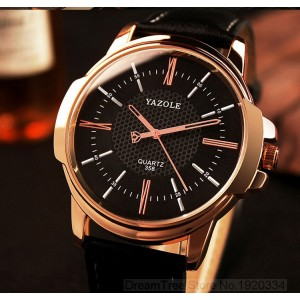 YAZOLE rose gold quartz watch- ceas de barbati