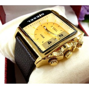 Ceas Diesel Time DZ12918 Gold barbatesc