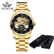 Sewor Skeleton Automatic Gold Business - ceas de barbati