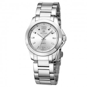 Megir 5006L Silver Luxury Business - ceas de dama