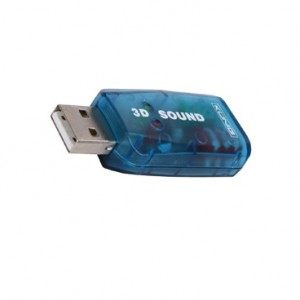Placa de sunet pe USB 2.0 to 5.1-channel Virtual 3D