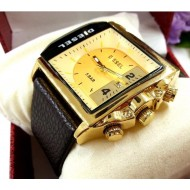 Diesel Time DZ12918 Gold - ceas barbatesc