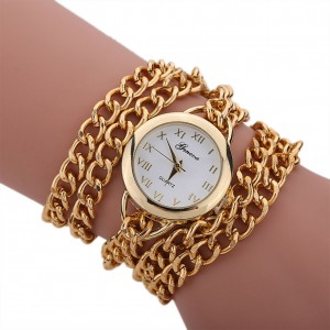 Braided Gold Crystal - ceas de dama